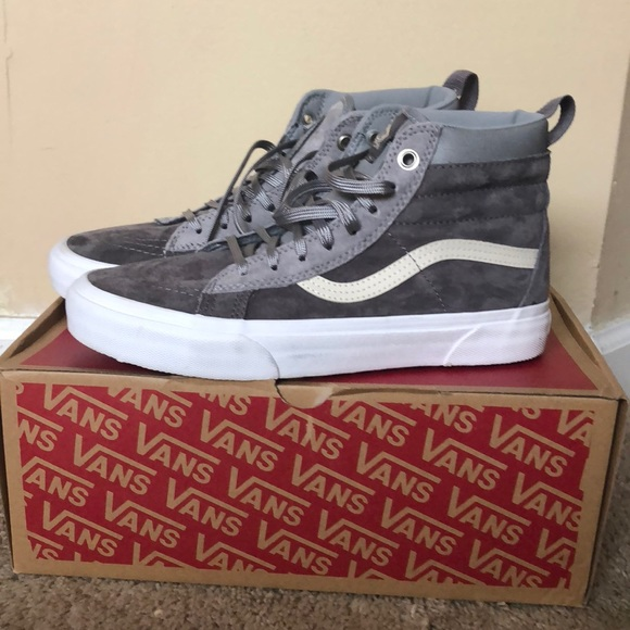 3acef35b7aabf2 Vans Shoes - NIB   NWOT Vans Sk8 Hi MTE High Tops - Gray Sz 8